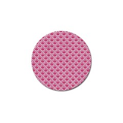 SCALES2 WHITE MARBLE & PINK DENIM Golf Ball Marker