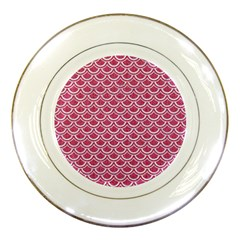 SCALES2 WHITE MARBLE & PINK DENIM Porcelain Plates