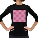 SCALES2 WHITE MARBLE & PINK DENIM Women s Long Sleeve Dark T-Shirts Front