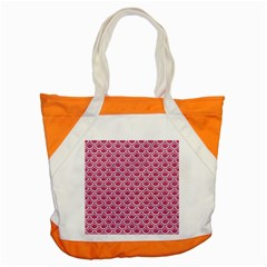 Scales2 White Marble & Pink Denim Accent Tote Bag by trendistuff
