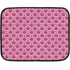 SCALES2 WHITE MARBLE & PINK DENIM Double Sided Fleece Blanket (Mini)