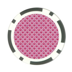 SCALES2 WHITE MARBLE & PINK DENIM Poker Chip Card Guard (10 pack)