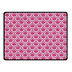 SCALES2 WHITE MARBLE & PINK DENIM Fleece Blanket (Small)