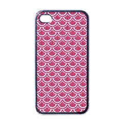 Scales2 White Marble & Pink Denim Apple Iphone 4 Case (black) by trendistuff