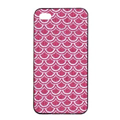 SCALES2 WHITE MARBLE & PINK DENIM Apple iPhone 4/4s Seamless Case (Black)