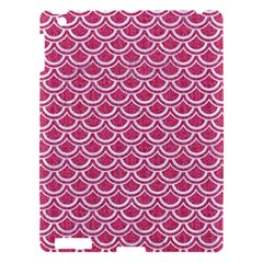 Scales2 White Marble & Pink Denim Apple Ipad 3/4 Hardshell Case by trendistuff