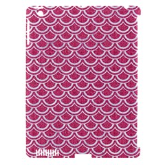SCALES2 WHITE MARBLE & PINK DENIM Apple iPad 3/4 Hardshell Case (Compatible with Smart Cover)