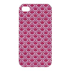 SCALES2 WHITE MARBLE & PINK DENIM Apple iPhone 4/4S Premium Hardshell Case