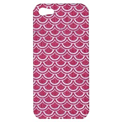 Scales2 White Marble & Pink Denim Apple Iphone 5 Hardshell Case by trendistuff