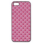 SCALES2 WHITE MARBLE & PINK DENIM Apple iPhone 5 Seamless Case (Black) Front