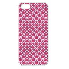 Scales2 White Marble & Pink Denim Apple Iphone 5 Seamless Case (white) by trendistuff