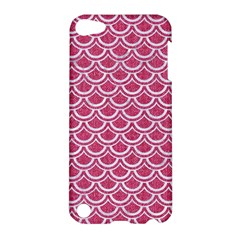 SCALES2 WHITE MARBLE & PINK DENIM Apple iPod Touch 5 Hardshell Case
