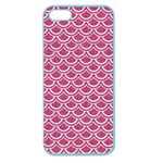 SCALES2 WHITE MARBLE & PINK DENIM Apple Seamless iPhone 5 Case (Color) Front