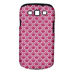Scales2 White Marble & Pink Denim Samsung Galaxy S Iii Classic Hardshell Case (pc+silicone) by trendistuff
