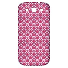 SCALES2 WHITE MARBLE & PINK DENIM Samsung Galaxy S3 S III Classic Hardshell Back Case