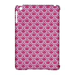 SCALES2 WHITE MARBLE & PINK DENIM Apple iPad Mini Hardshell Case (Compatible with Smart Cover)
