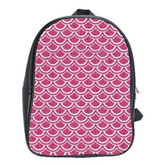 SCALES2 WHITE MARBLE & PINK DENIM School Bag (XL)