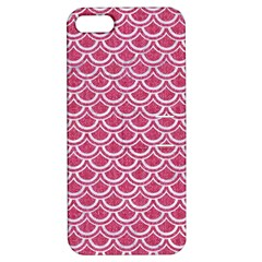 Scales2 White Marble & Pink Denim Apple Iphone 5 Hardshell Case With Stand by trendistuff