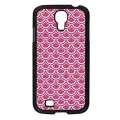 SCALES2 WHITE MARBLE & PINK DENIM Samsung Galaxy S4 I9500/ I9505 Case (Black)