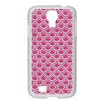 SCALES2 WHITE MARBLE & PINK DENIM Samsung GALAXY S4 I9500/ I9505 Case (White) Front