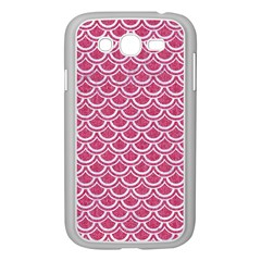 Scales2 White Marble & Pink Denim Samsung Galaxy Grand Duos I9082 Case (white) by trendistuff