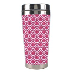 SCALES2 WHITE MARBLE & PINK DENIM Stainless Steel Travel Tumblers