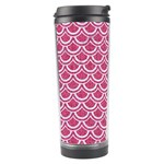SCALES2 WHITE MARBLE & PINK DENIM Travel Tumbler Left