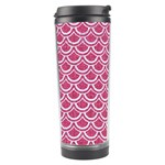 SCALES2 WHITE MARBLE & PINK DENIM Travel Tumbler Center