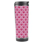 SCALES2 WHITE MARBLE & PINK DENIM Travel Tumbler Right