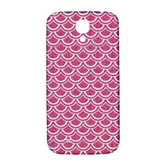 Scales2 White Marble & Pink Denim Samsung Galaxy S4 I9500/i9505  Hardshell Back Case by trendistuff