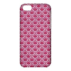 SCALES2 WHITE MARBLE & PINK DENIM Apple iPhone 5C Hardshell Case