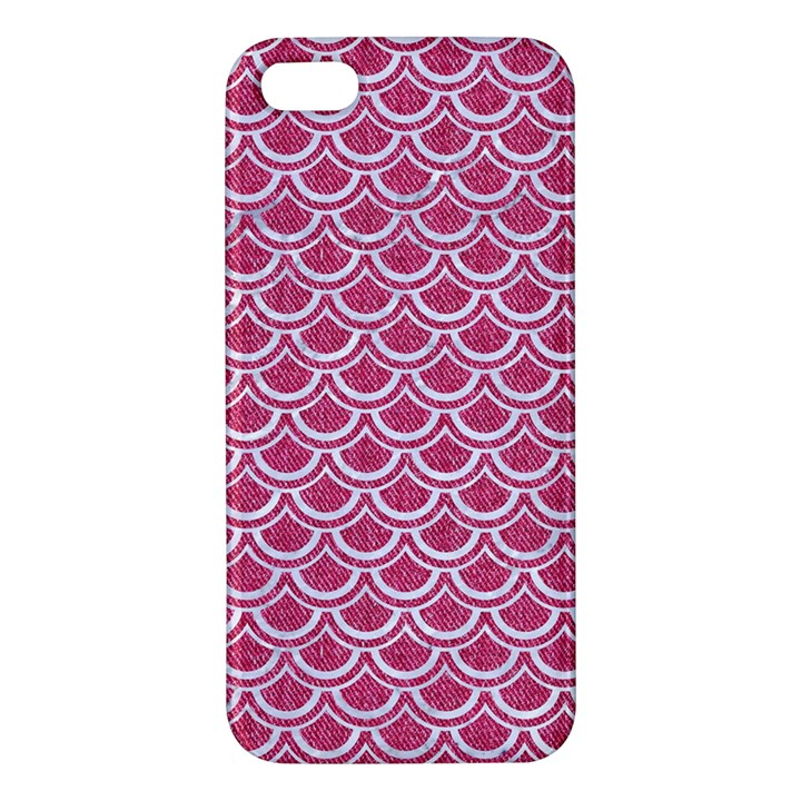 SCALES2 WHITE MARBLE & PINK DENIM iPhone 5S/ SE Premium Hardshell Case