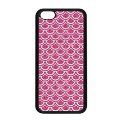 SCALES2 WHITE MARBLE & PINK DENIM Apple iPhone 5C Seamless Case (Black)