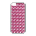SCALES2 WHITE MARBLE & PINK DENIM Apple iPhone 5C Seamless Case (White) Front
