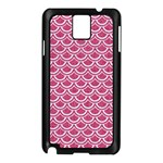 SCALES2 WHITE MARBLE & PINK DENIM Samsung Galaxy Note 3 N9005 Case (Black) Front