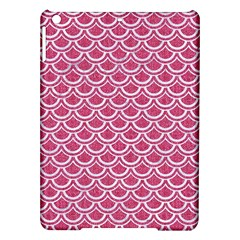 SCALES2 WHITE MARBLE & PINK DENIM iPad Air Hardshell Cases