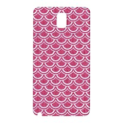 SCALES2 WHITE MARBLE & PINK DENIM Samsung Galaxy Note 3 N9005 Hardshell Back Case