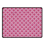 SCALES2 WHITE MARBLE & PINK DENIM Double Sided Fleece Blanket (Small)  45 x34 Blanket Front