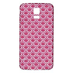 SCALES2 WHITE MARBLE & PINK DENIM Samsung Galaxy S5 Back Case (White)