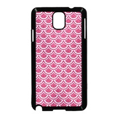 SCALES2 WHITE MARBLE & PINK DENIM Samsung Galaxy Note 3 Neo Hardshell Case (Black)