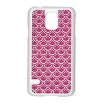 SCALES2 WHITE MARBLE & PINK DENIM Samsung Galaxy S5 Case (White) Front