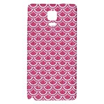 SCALES2 WHITE MARBLE & PINK DENIM Galaxy Note 4 Back Case Front