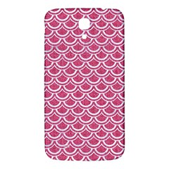 Scales2 White Marble & Pink Denim Samsung Galaxy Mega I9200 Hardshell Back Case