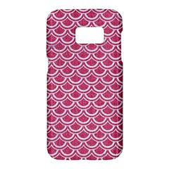 SCALES2 WHITE MARBLE & PINK DENIM Samsung Galaxy S7 Hardshell Case