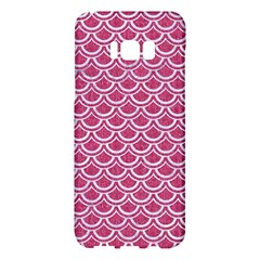 SCALES2 WHITE MARBLE & PINK DENIM Samsung Galaxy S8 Plus Hardshell Case
