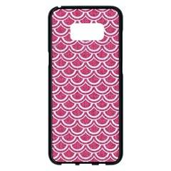 Scales2 White Marble & Pink Denim Samsung Galaxy S8 Plus Black Seamless Case