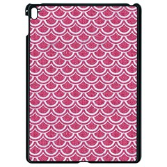 Scales2 White Marble & Pink Denim Apple Ipad Pro 9 7   Black Seamless Case by trendistuff