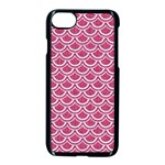 SCALES2 WHITE MARBLE & PINK DENIM Apple iPhone 8 Seamless Case (Black) Front