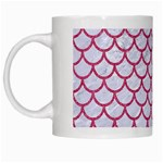 SCALES1 WHITE MARBLE & PINK DENIM (R) White Mugs Left