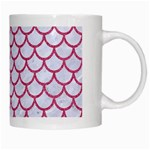 SCALES1 WHITE MARBLE & PINK DENIM (R) White Mugs Right
